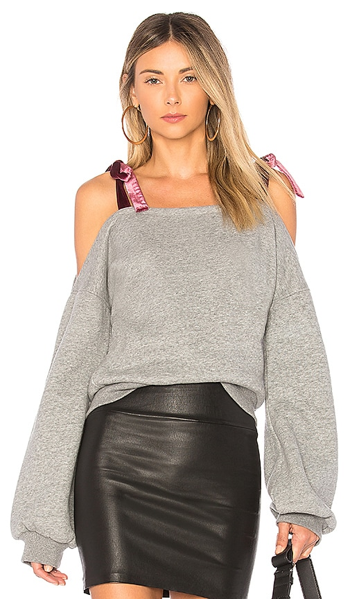 Lovers + Friends Nightlife Pullover in Gray
