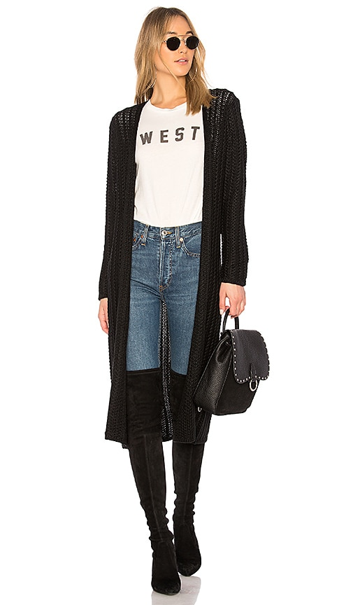 Lovers + Friends Harlowe Cardigan in Black
