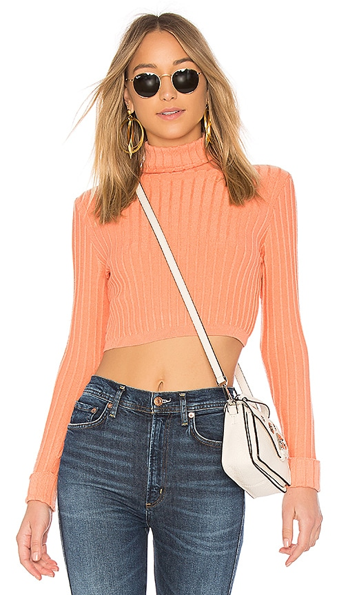 Lovers + Friends You Go Girl Sweater in Coral