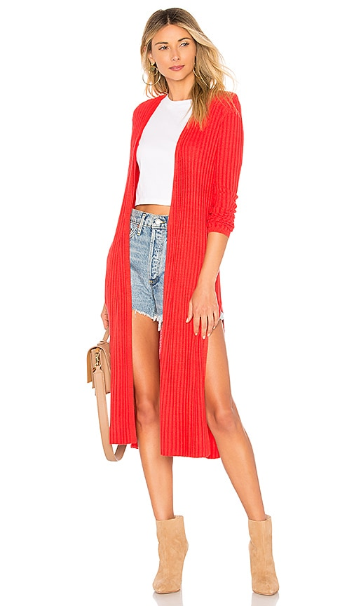 Lovers + Friends Davenport Cardigan in Red