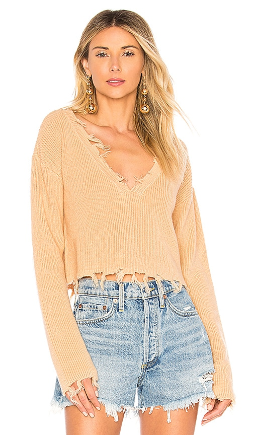 Lovers + Friends Prospect Sweater in Tan