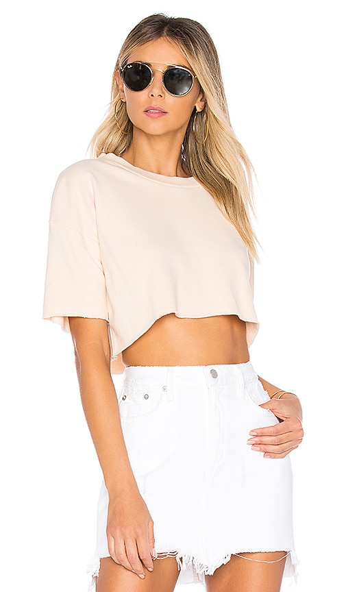 Lovers + Friends x REVOLVE Elora Crop Sweatshirt in Beige