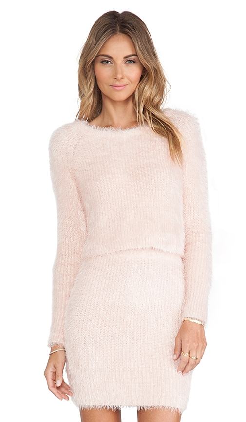 Lovers   Friends Dolly Sweater in Powder Pink | REVOLVE