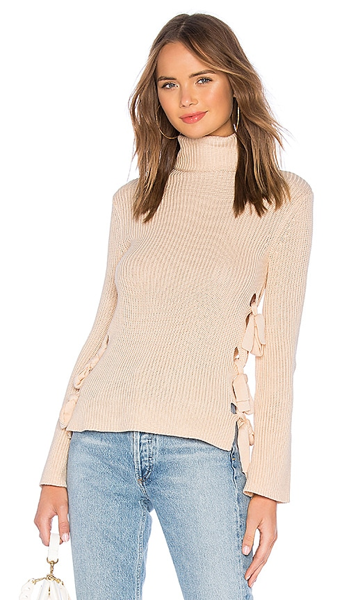 Hally Lace Up Sweater