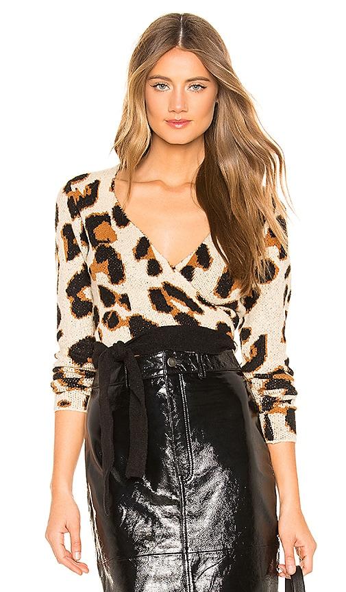 Leopard Wrap Sweater