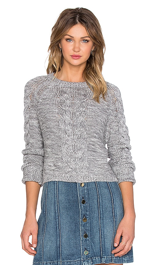 Lovers + Friends x REVOLVE Darcy Crop Sweater in Grey