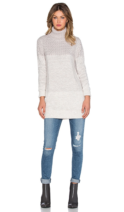 Lovers + Friends x REVOLVE Jane Turtleneck Sweater in Light Gray