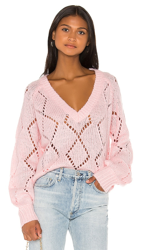 Monika Sweater In Light Pink by Lovers + Friends