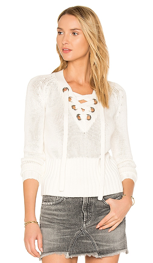 Lovers + Friends Yacht Sweater in White