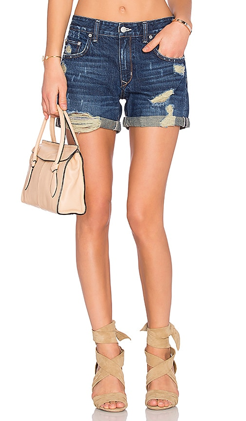 Lovers + Friends Dylan Boyfriend Short in Grove