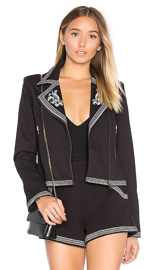 Lovers + Friends Moonrise Jacket in in Black