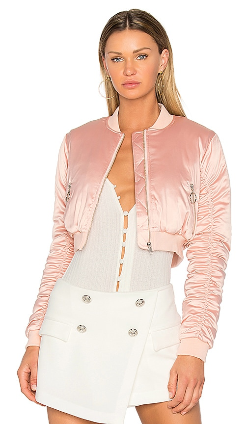 Lovers + Friends x REVOLVE Short Love Bomber in Blush