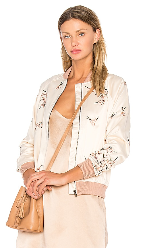 Lovers + Friends x REVOLVE Worldwide Bomber in Cream