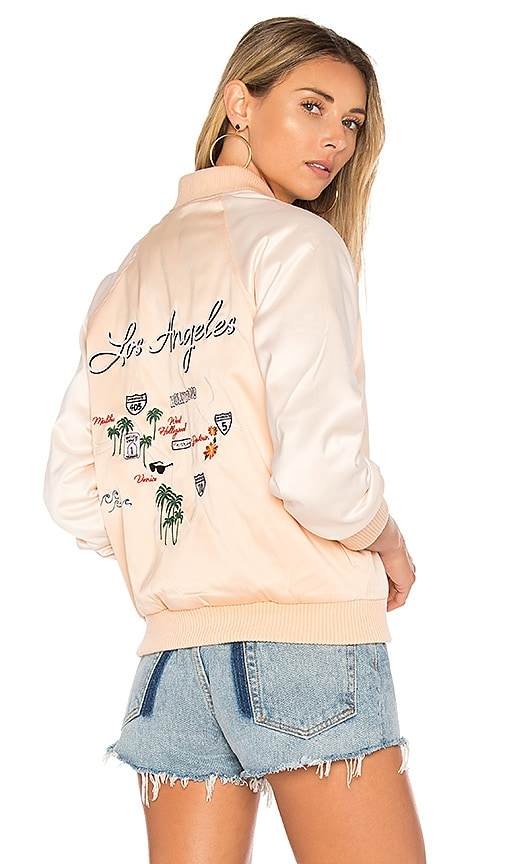 Lovers + Friends x REVOLVE Roadtrippin Bomber in Beige