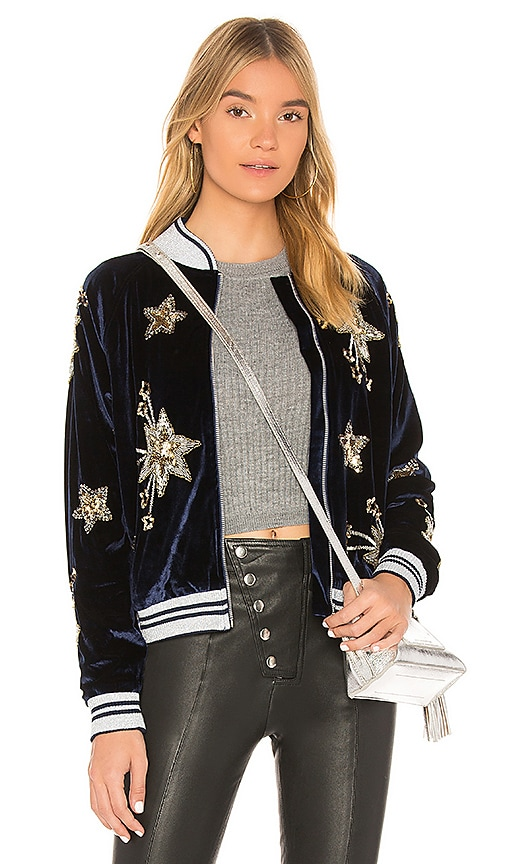 Lovers + Friends x REVOLVE The Starry Bomber in Blue