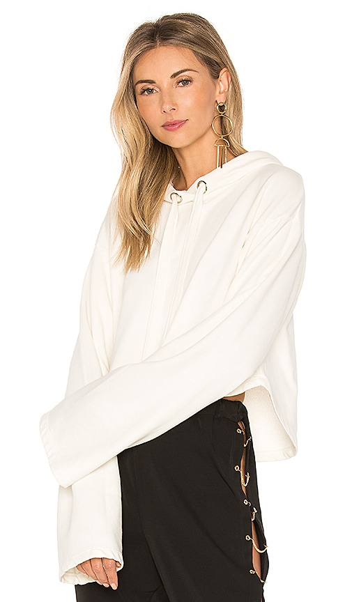 Lovers + Friends x REVOLVE Alma Cropped Hoodie in Ivory