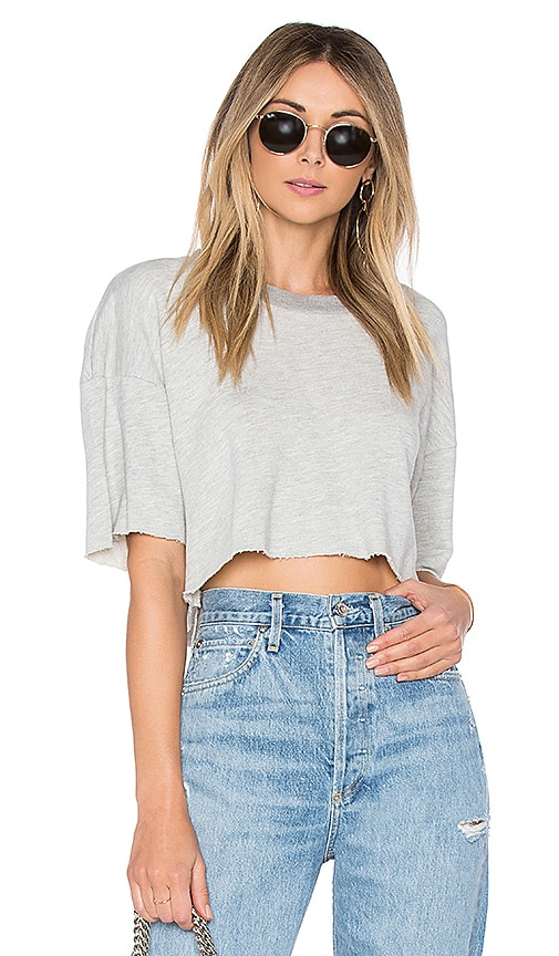 Lovers + Friends Elora Crop Sweatshirt in Gray