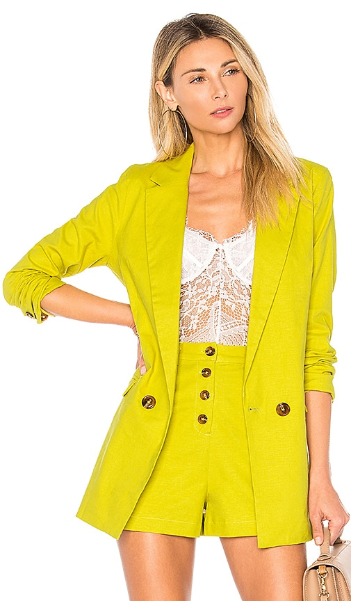 Lovers + Friends Leslie Blazer in Green
