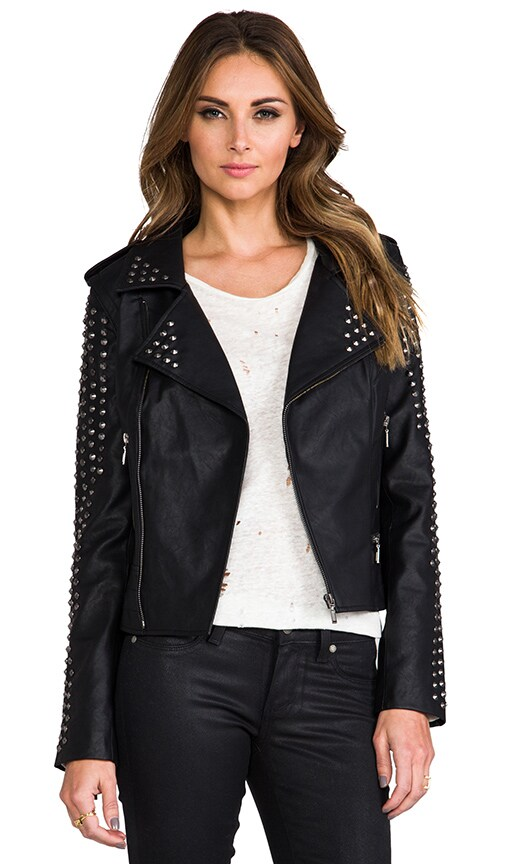 REVOLVE Exclusive Rhona Embellished Vegan Leather Jacket