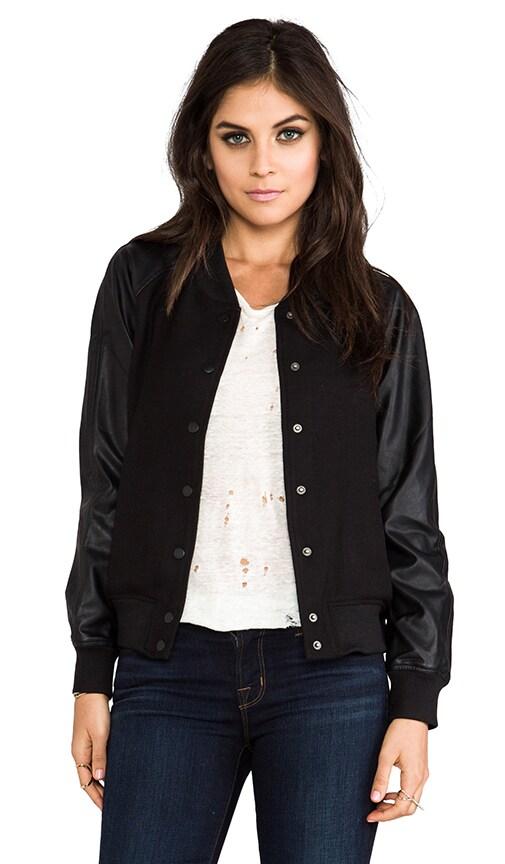 Varsity Jacket w/ Vegan Leather Sleeves