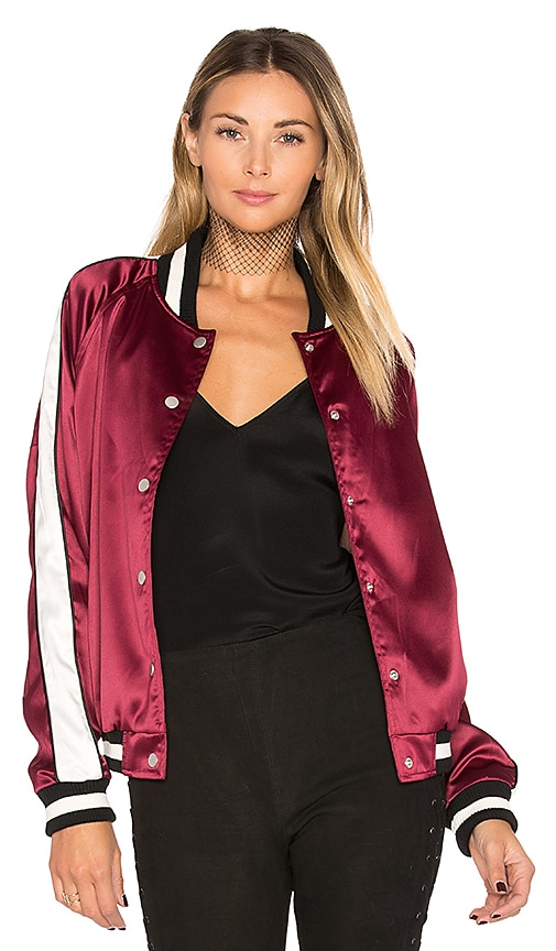 Lovers + Friends x REVOLVE The Nomad Bomber in Burgundy
