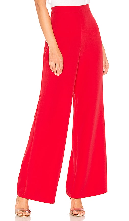 Lovers + Friends Crescendo Wide Leg Pant in Red