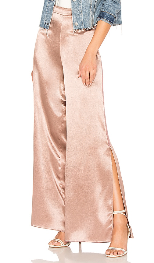 Lovers + Friends Andante Split Pant in Metallic Copper