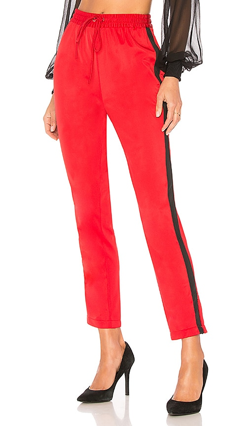 Lovers + Friends Crop Track Pant in Red