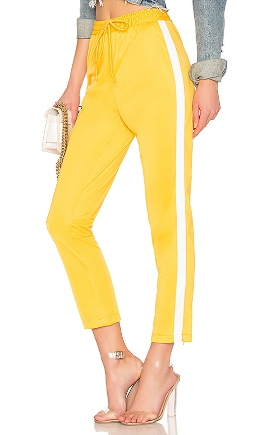 Lovers + Friends Crop Track Pant in Yellow
