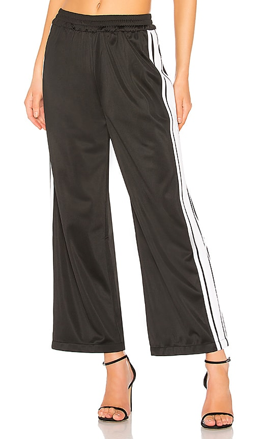 Lovers + Friends Athletic Track Pant in Black