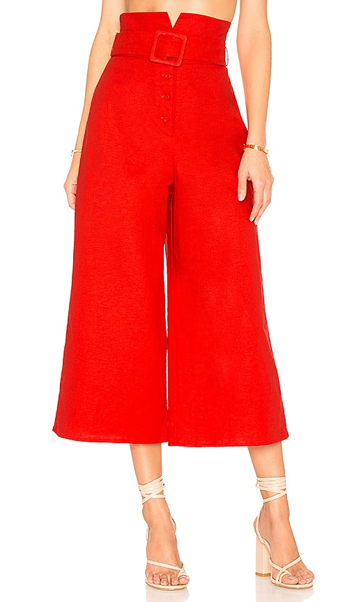 Lovers + Friends Claire Pant in Red