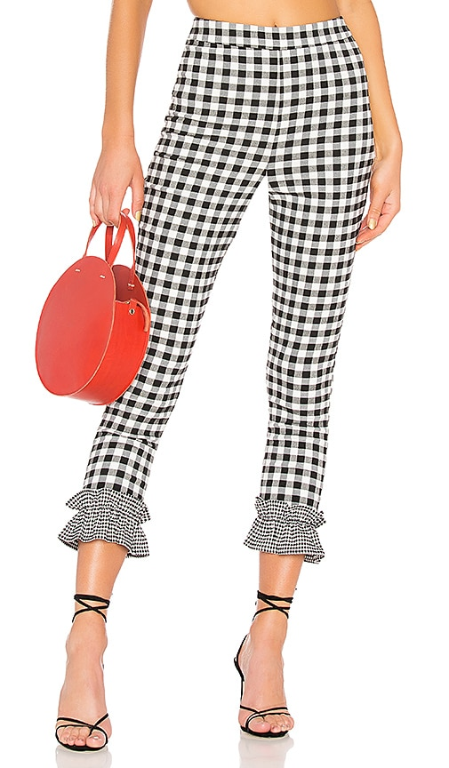 Lovers + Friends Patterson Pant in Black & White