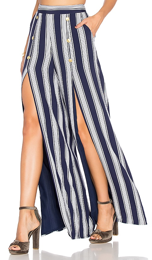 Lovers + Friends Farewell Pants in Navy