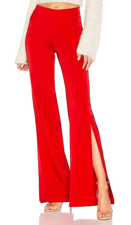 Lovers + Friends Slash Pant in Red