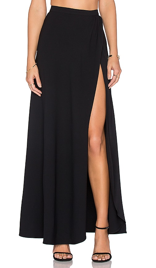 Lovers + Friends XOXO Maxi Skirt in Black