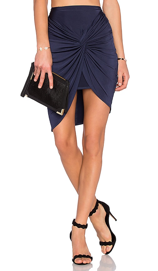 Lovers + Friends Love Note Skirt in Navy