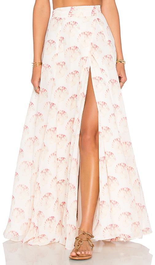 c258ae99eda3 Lovers + Friends x REVOLVE x Alexis Ren Hydra Skirt in Shell Print ...