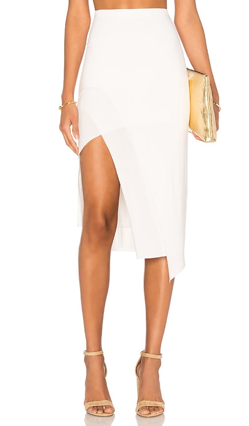 Lovers + Friends Bridgette Midi Skirt in White