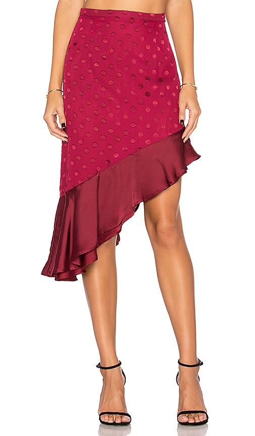 Lovers + Friends Rhapsody Skirt in Red