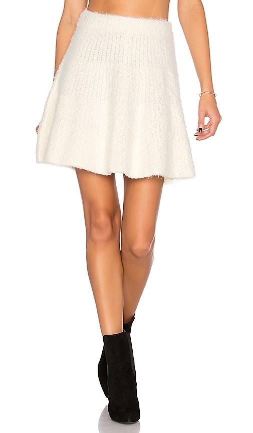 Lovers + Friends Be Flirty Skirt in Ivory