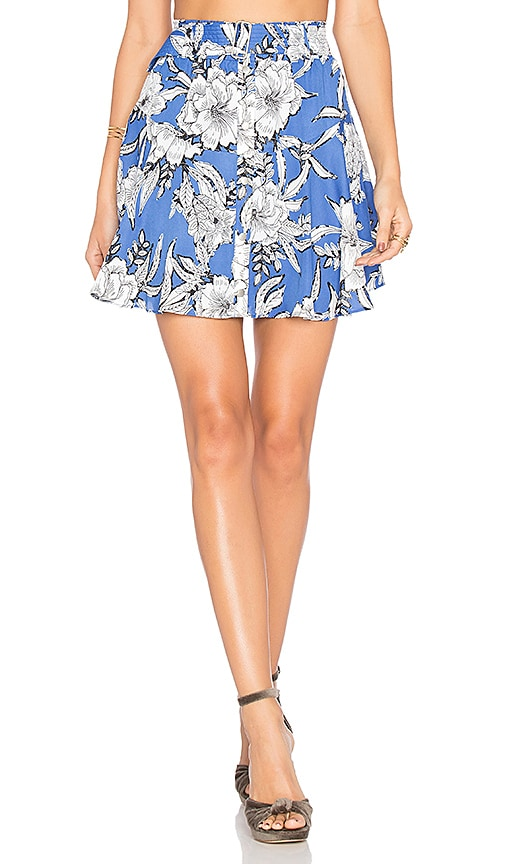 Lovers + Friends Fountain Skirt in Blue