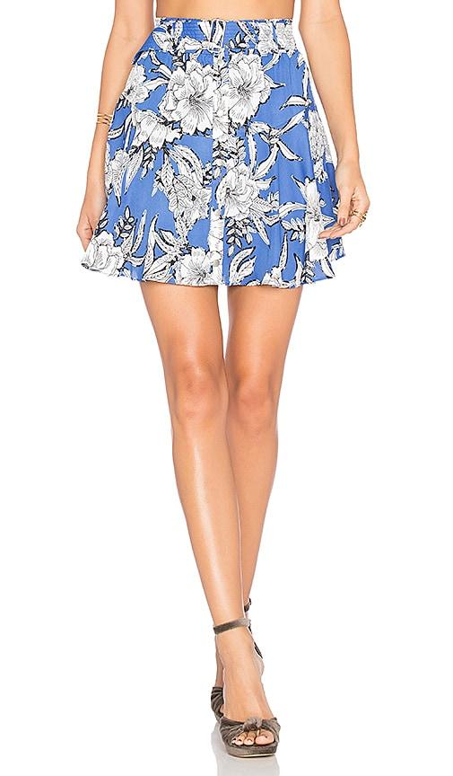 Lovers + Friends Fountain Skirt in Blue