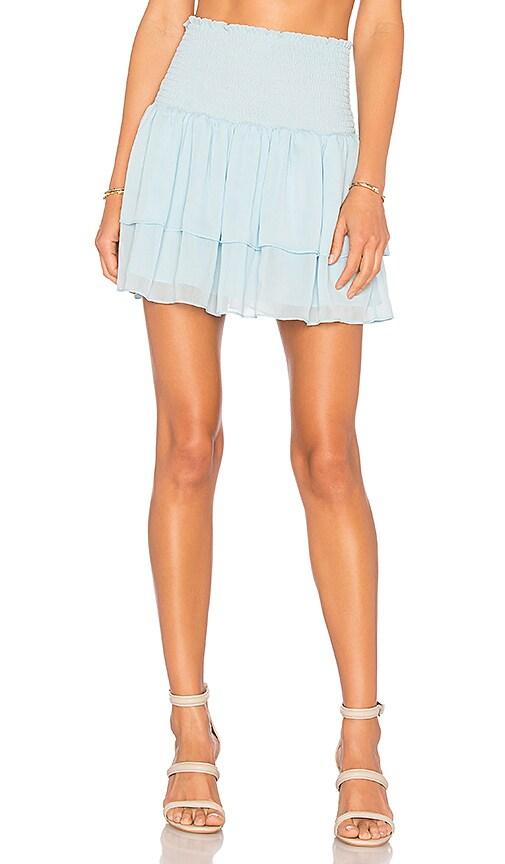 Lovers + Friends Flounce Skirt in Baby Blue