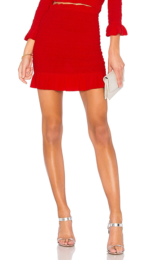 Lovers + Friends x REVOLVE Monaco Skirt in Red