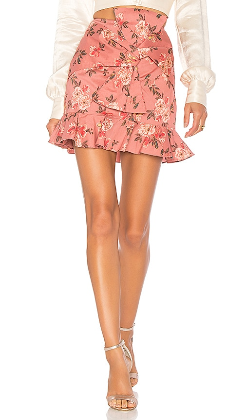 Lovers + Friends Barnes Mini Skirt in Pink