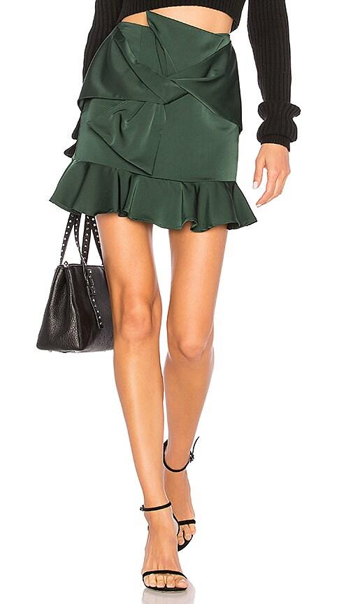 Lovers + Friends Barnes Mini Skirt in Dark Green