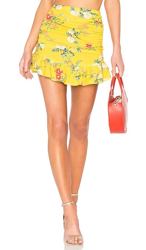 Lovers + Friends Brooke Skirt in Yellow