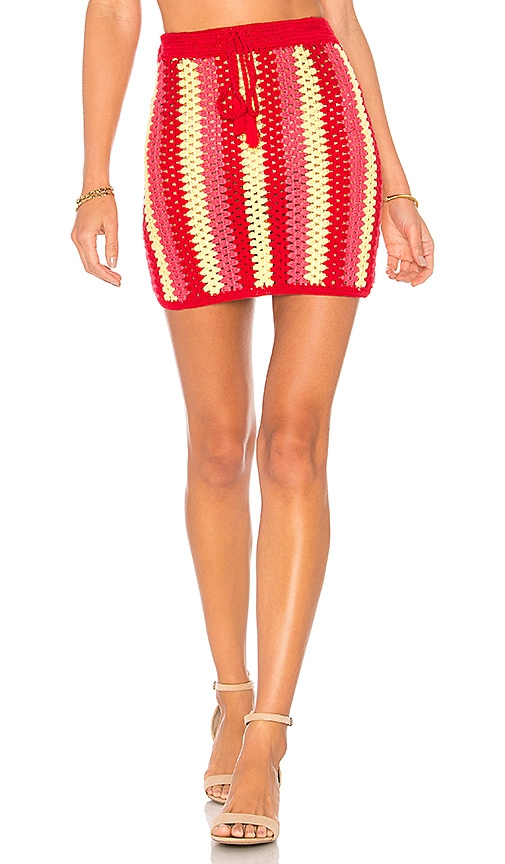 Lovers + Friends Sunray Skirt in Red