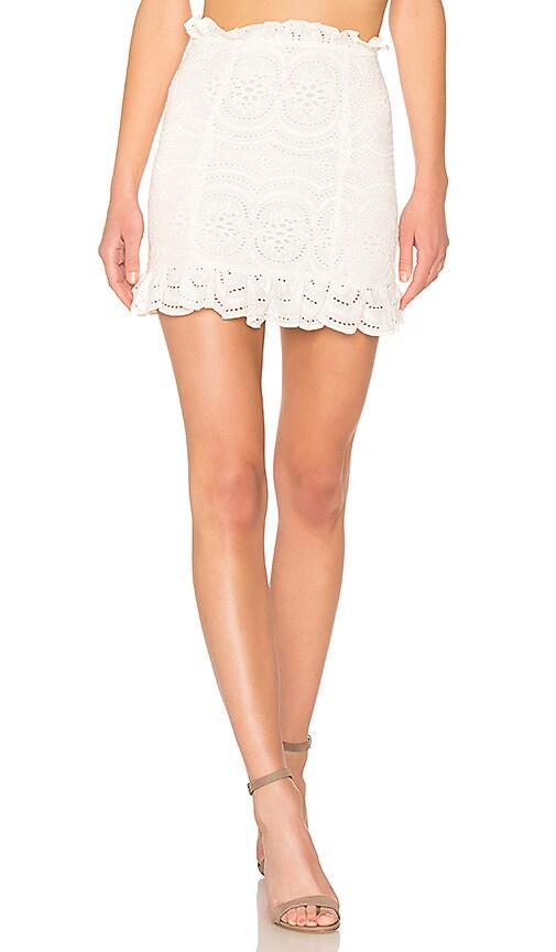Lovers + Friends Charlotte Skirt in Ivory