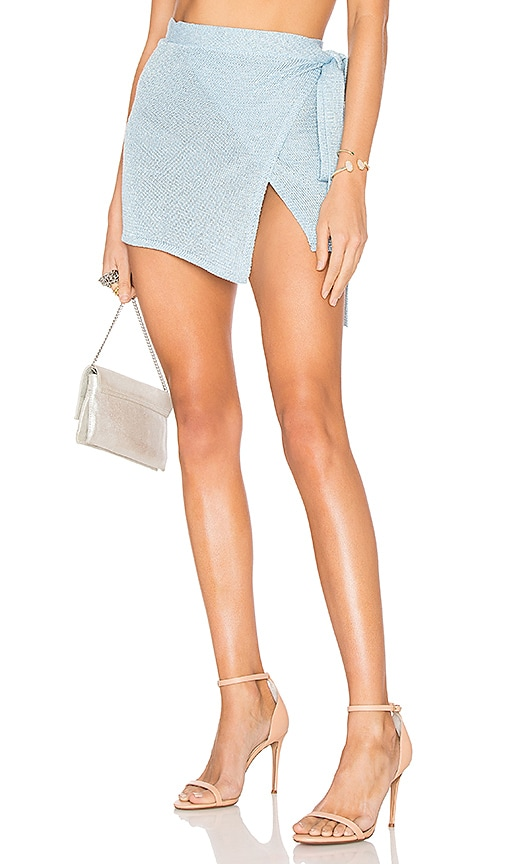 Lovers + Friends Shine Bright Skirt in Blue